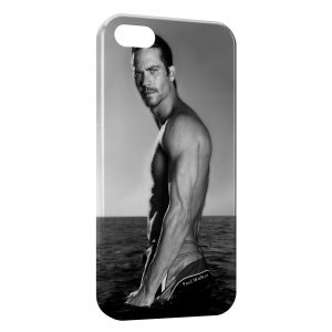 Coque iPhone 5C Paul Walker Sexy Black & White