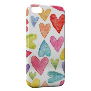 Coque iPhone 5C Petits Coeurs Painted