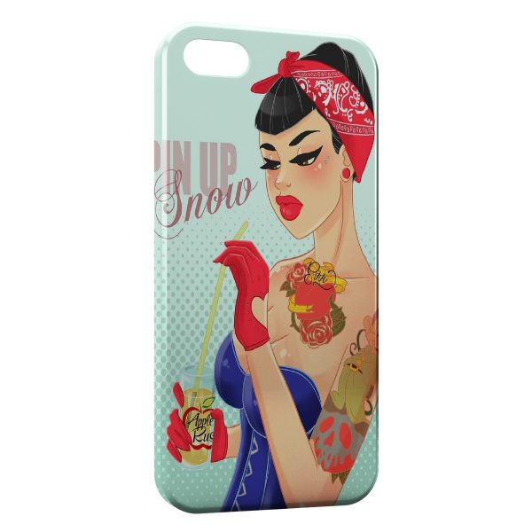Coque iPhone 5C Pin Up Blanche Neige et les 7 Nains