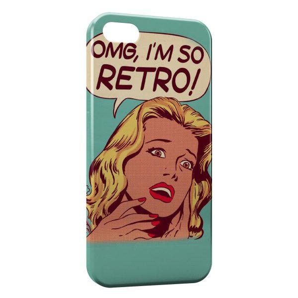 Coque iPhone 5C Pin up OMG Im so Retro
