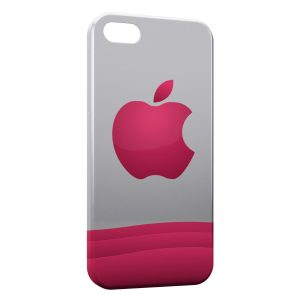 Coque iPhone 5C Pink Apple Logo