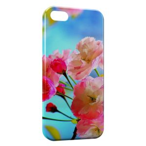 Coque iPhone 5C Pink Flowers 2