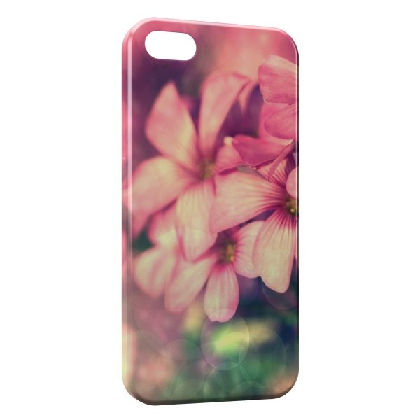 Coque iPhone 5C Pink Flowers 3