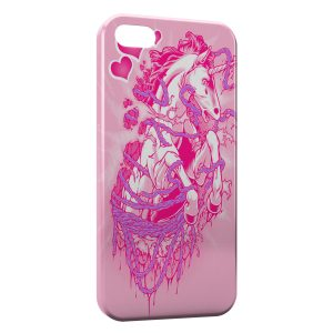 Coque iPhone 5C Pink Licorne