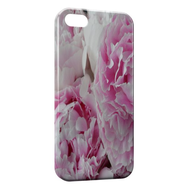 Coque iPhone 5C Pivoine Fleur Rose