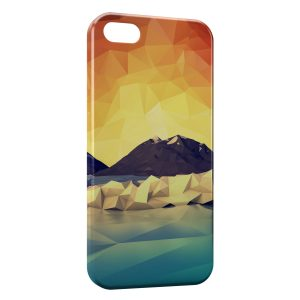 Coque iPhone 5C Pixel Design Montagne