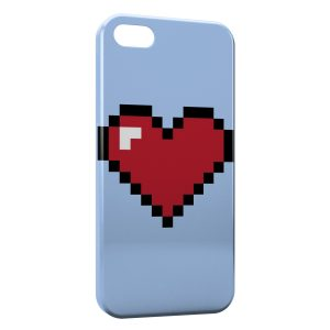 Coque iPhone 5C Pixel Heart Love