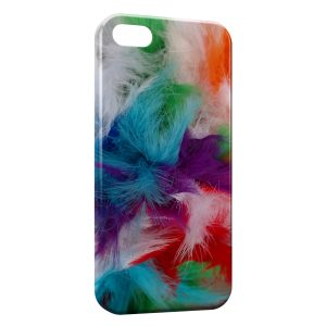 Coque iPhone 5C Plumes color