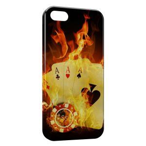 Coque iPhone 5C Poker Fire