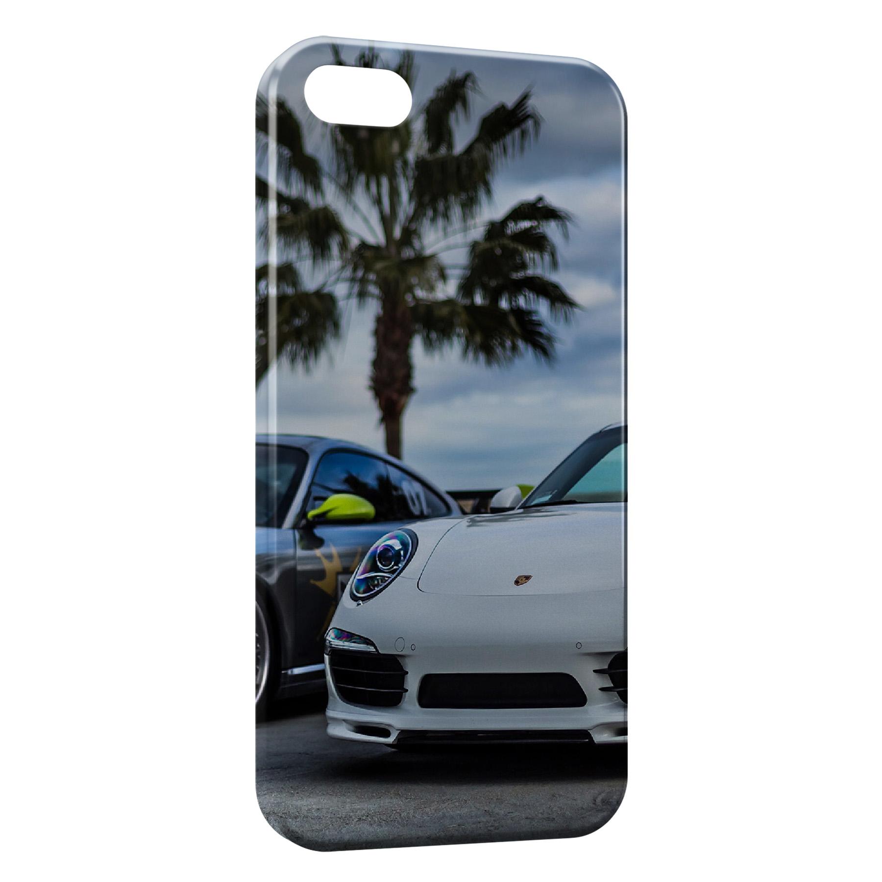 Coque iPhone 5C Porsche et Palmier