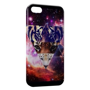 Coque iPhone 5C Pyramide Illuminati Lion & Tigers