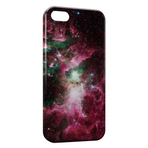 Coque iPhone 5C Red Galaxy