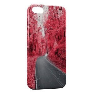 Coque iPhone 5C Road & Red Forest