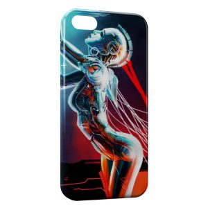 Coque iPhone 5C Robot Girl Sexy