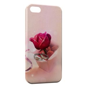 Coque iPhone 5C Rose & Bagues