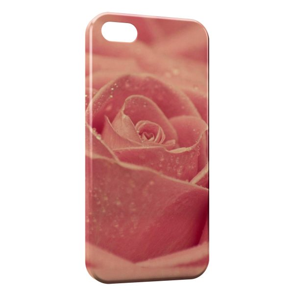 Coque iPhone 5C Rose Design 2