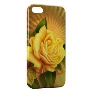 Coque iPhone 5C Rose jaune
