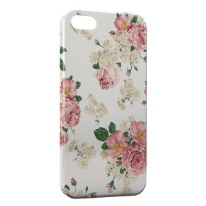 Coque iPhone 5C Rose vintage