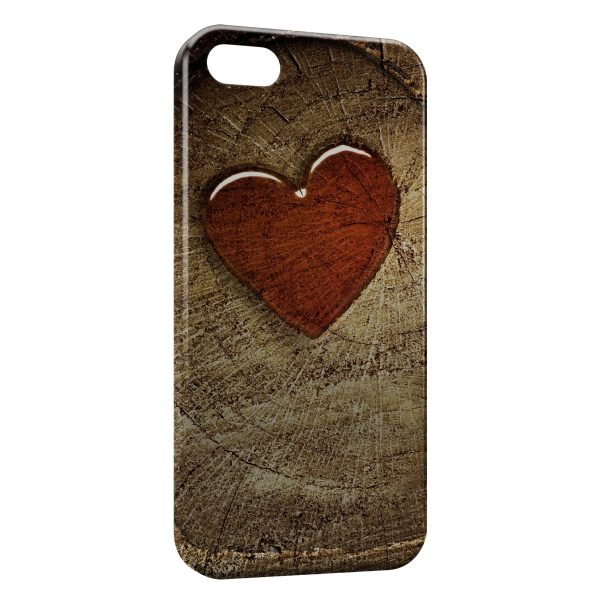 Coque iPhone 5C Rouge Coeur Image Style