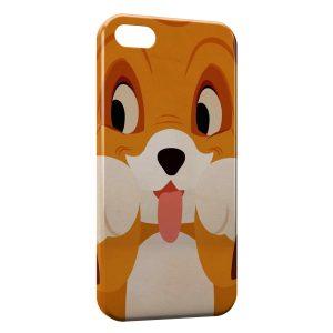 Coque iPhone 5C Rox et Rouky Chien