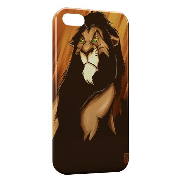 Coque iPhone 5C Scar Le Roi Lion Art 2