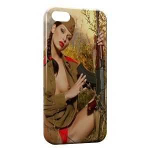 Coque iPhone 5C Sexy Girl Chasse 2