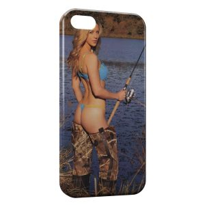 Coque iPhone 5C Sexy Girl Fish Pêche Poisson