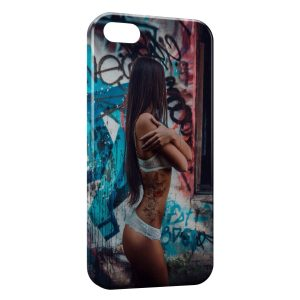 Coque iPhone 5C Sexy Girl Graphitis
