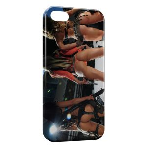 Coque iPhone 5C Sexy Girl Guns 6
