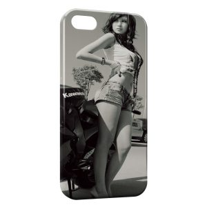 Coque iPhone 5C Sexy Girl Kawasaki