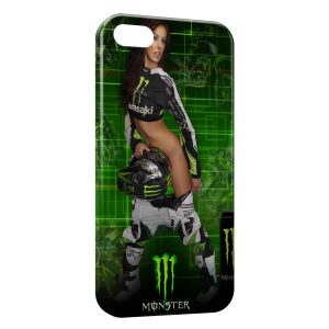 Coque iPhone 5C Sexy Girl Monster Energy Green