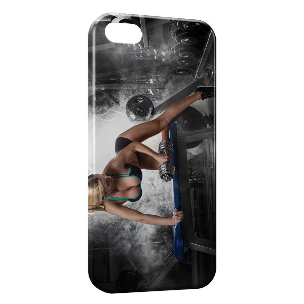 Coque iPhone 5C Sexy Girl Musculation Fitness