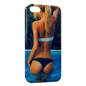 Coque iPhone 5C Sexy Girl Piscine