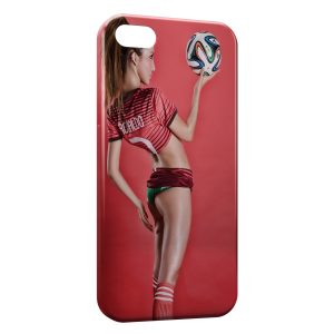 Coque iPhone 5C Sexy Girl Portugal Ronaldo