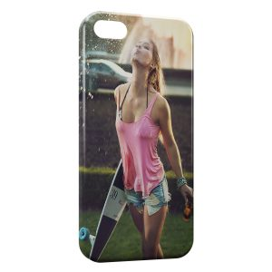 Coque iPhone 5C Sexy Girl Skate