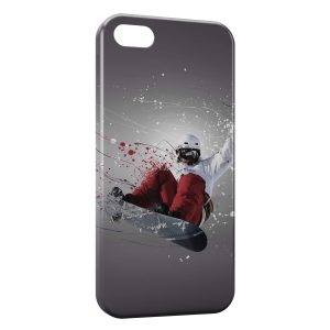 Coque iPhone 5C Snowboarder Art