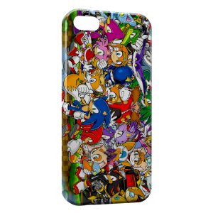 Coque iPhone 5C Sonic Personnages