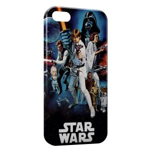 Coque iPhone 5C Star Wars Affiche Vintage