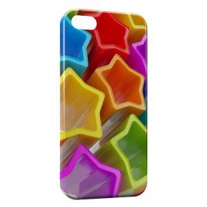 Coque iPhone 5C Stars etoiles Colorées