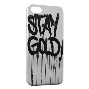 Coque iPhone 5C Stay Gold
