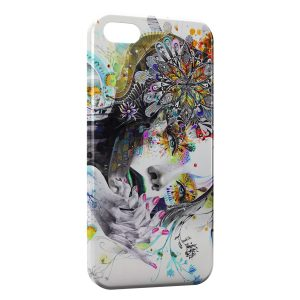 Coque iPhone 5C Stylized woman's face