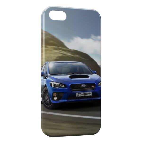 Coque iPhone 5C Subaru Blue Voiture