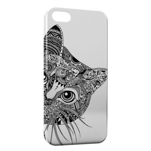 Coque iPhone 5C Tête de chat 600x600