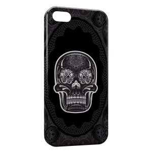 Coque iPhone 5C Tête de mort Design Black