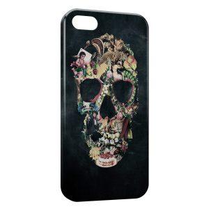 Coque iPhone 5C Tête de mort vintage