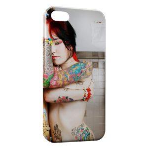 Coque iPhone 5C Tatouage Fille Sexy 2