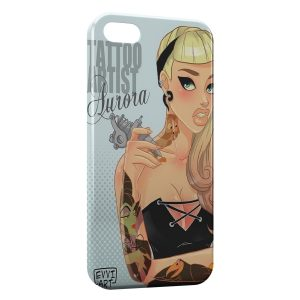 Coque iPhone 5C Tattoo Belle au bois dormant