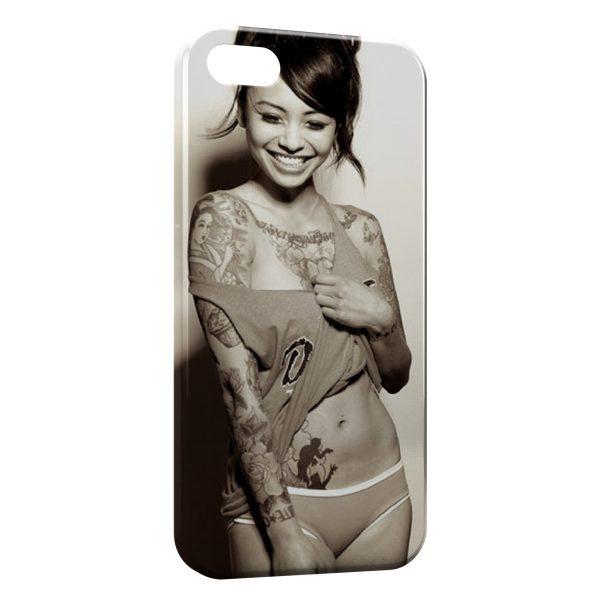 Coque iPhone 5C Tattoo Sexy Girl 4