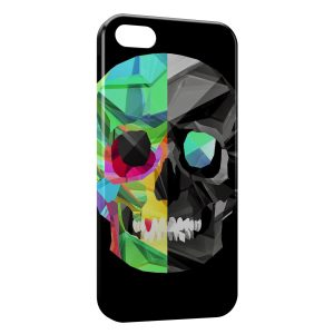 Coque iPhone 5C Tete de Mort BiFace