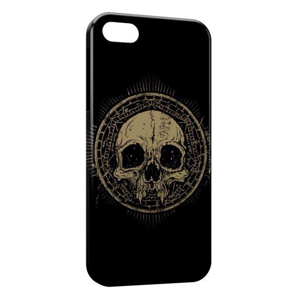 Coque iPhone 5C Tete de Mort Black